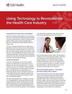 Using Technology to Revolutionize Healthcare White Paper