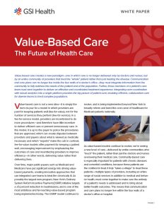 Value-Based Care White Paper
