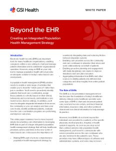 Beyond the EHR White Paper