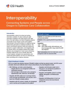 Thumbnail of Oregon Interoperability Solution Brief