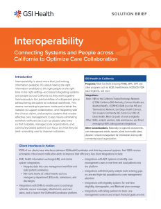 GSI Health Interoperability for California Solution Brief