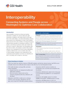 Interoperability Solution Brief for Washington Graphic